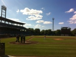 The Syracuse Chiefs take the field.