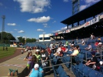 The Visitors side at NBT Stadium. Most of these people are Red Sox Fans.