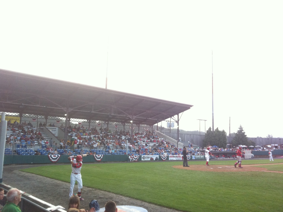 A shot of the stands at Bowman Field.