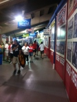 In the concourse that runs beneath the main seating area at FirstEnergy Stadium.